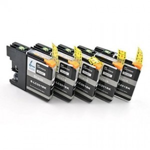 iTinte LC201 Compatible Ink Cartridges (5 Black)