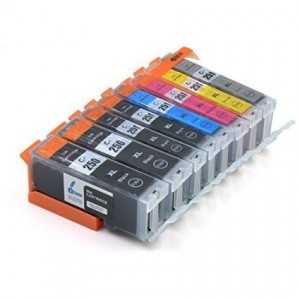 Compatible 250 251 (1 Black, 1 Photo Black, 1 Cyan, 1 Magenta and 1 Yellow)