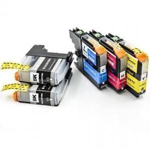 Compatible LC 201 Ink Cartridge (2 Black,1 Cyan,1 Magenta,1 Yellow)
