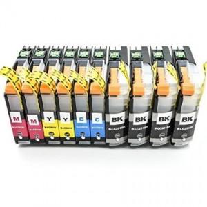 Compatible LC 201 Ink Cartridge (4 Black,2 Cyan,2 Magenta,2 Yellow)