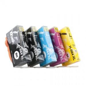 iTinte 564XL Compatible Ink Cartridges (1 Black,1 Photo Black, 1 Cyan, 1 Magenta, 1 Yellow)