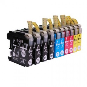 LC 203 Ink Cartridge (4 Black, 2 Cyan,2 Magenta,2 Yellow) Compatible also with LC 201 ink cartridge