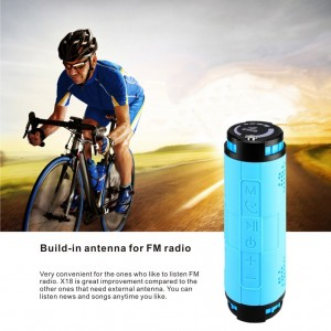 Portable Waterproof Bluetooth Speakers (Blue)