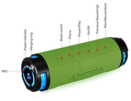 eHub Portable Waterproof Bluetooth Speakers, Green