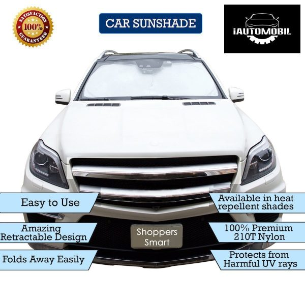 iAutomobil Windshield Car Sun Shade 63″x37.8″, Dual Color