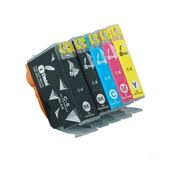 iTinte Compatible Canon PGI 5 / Canon CLI 8 Ink Cartridges: PGI 5 (1 Black) CLI 8 (1 Black,1 Cyan,1 Magenta,1 Yellow) 5 Pack