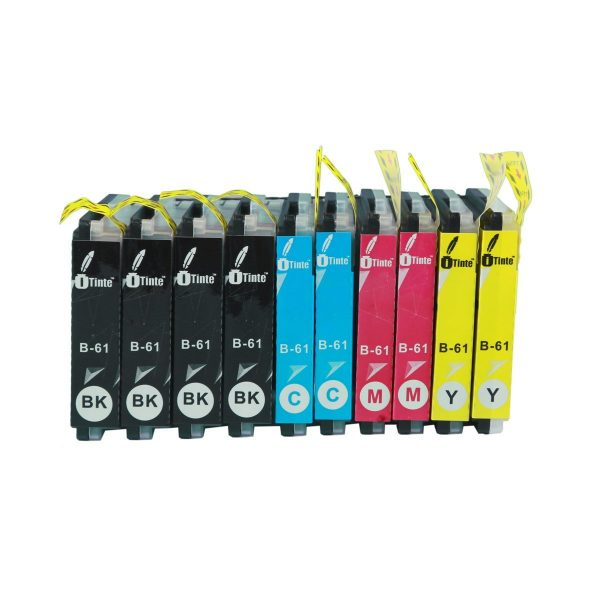 iTinte Compatible Brother LC61 ink cartridges XL (4 Black, 2 Cyan, 2 Magenta, 2 Yellow) 10 Pack