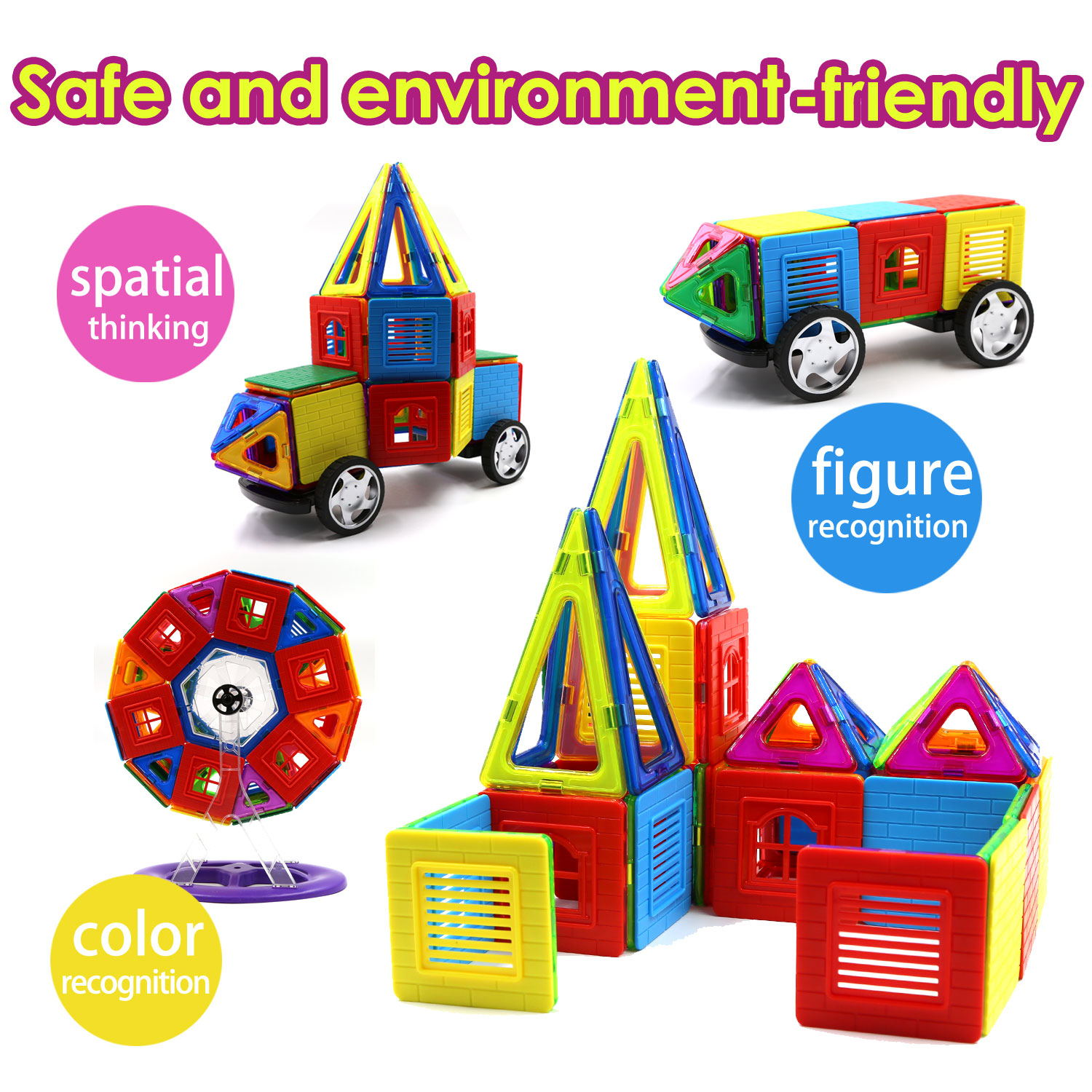 Children Hub 96pcs Magnetic Building Blocks Set Educational Toys
