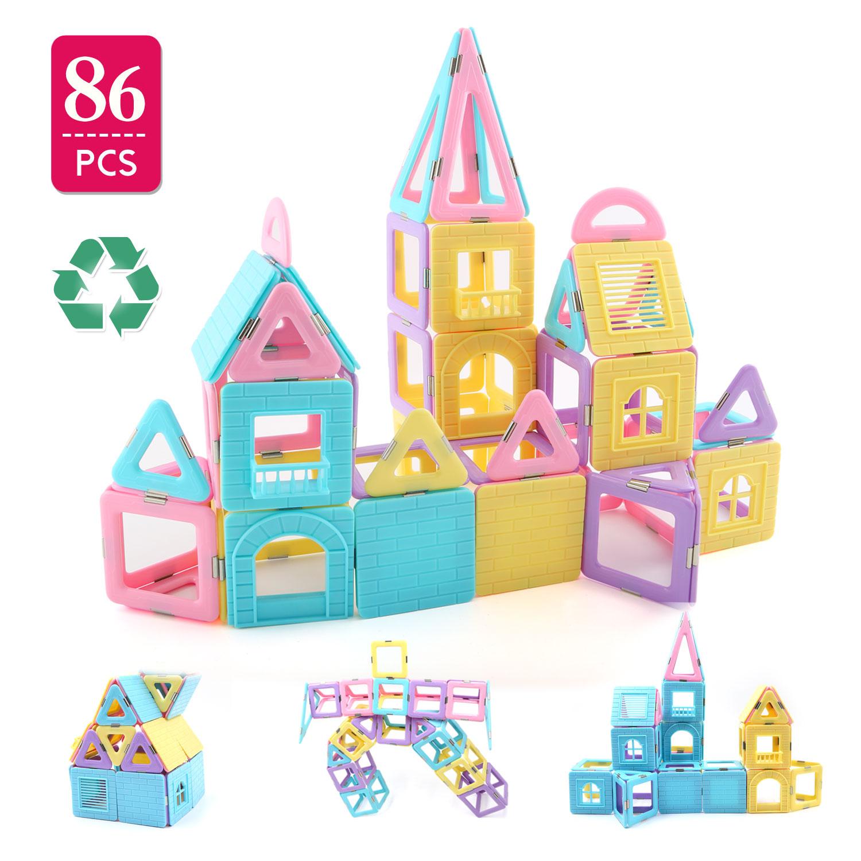 Children Hub 96pcs Magnetic Building Blocks Set Educational Toys